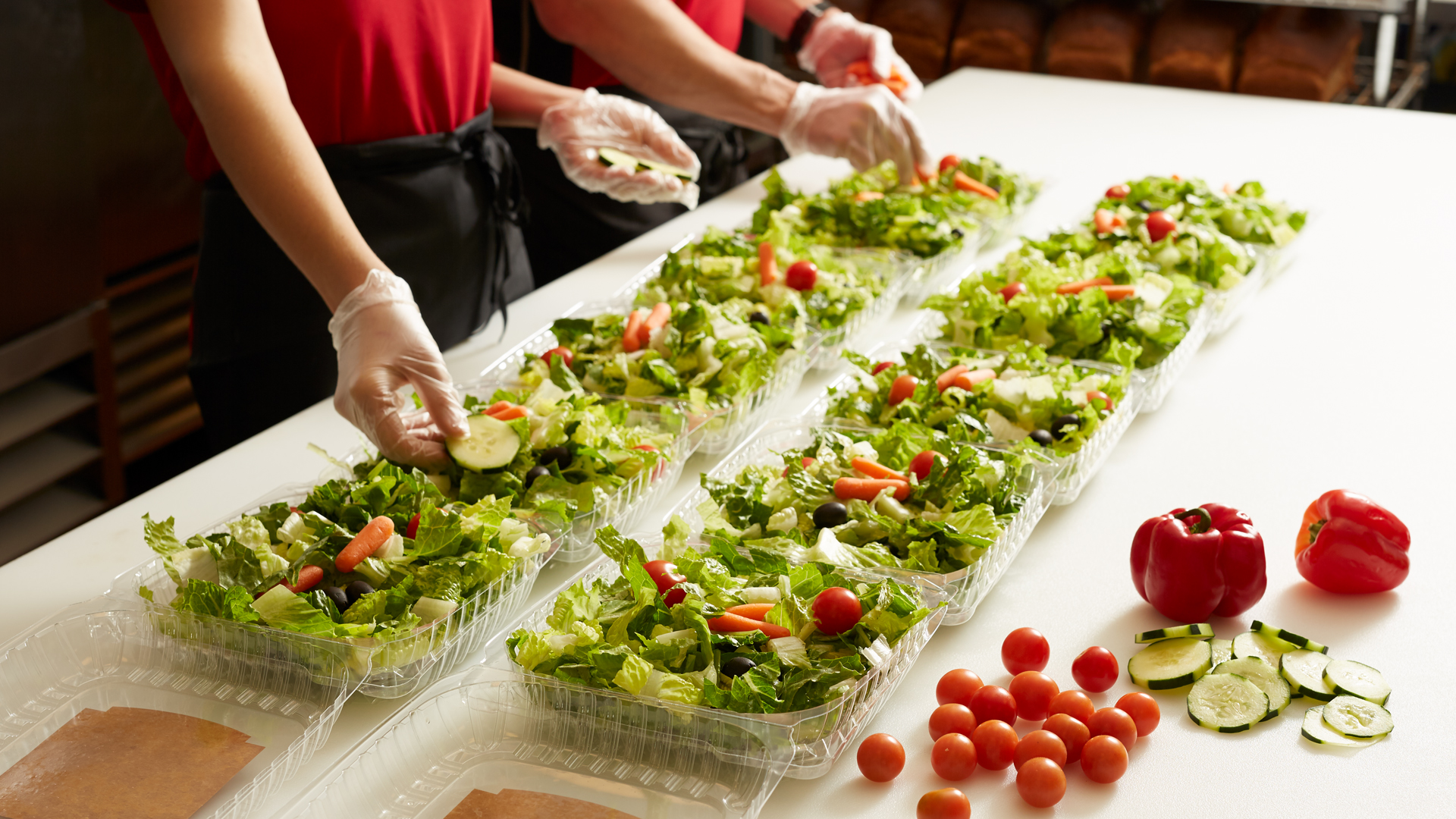 Apple Spice Catered Salad Preparation